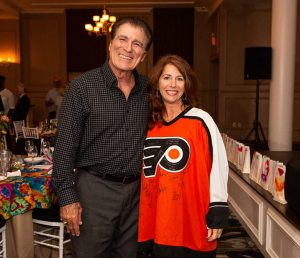 Vince Papale and Mollie Plotkin in a Philadelphia Flyers Jersey
