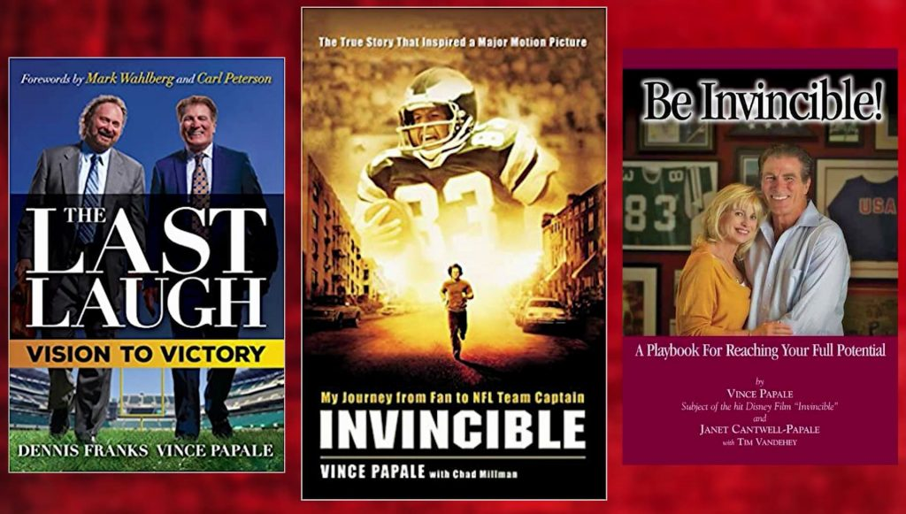 Three books authored by Vince Papale